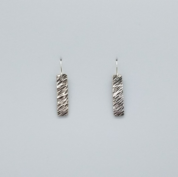 Cinta's Designs Jewelry - Sterling Silver Hammered Earrings